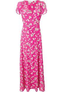 P.A.R.O.S.H. Vestido Envelope Sapored Floral - Rosa
