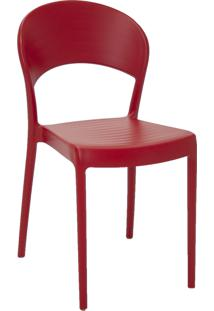 Cadeira Com Encosto Tramontina 92046040 Summa Sissi Vermelho