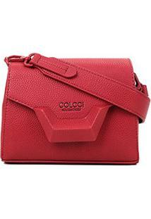 Bolsa Colcci Mini Bag Tampa Metal Feminina - Feminino-Vermelho