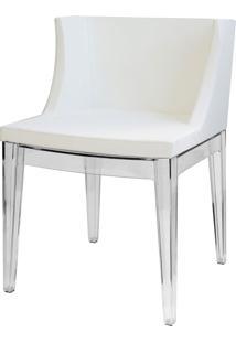 Cadeira Senhorita Or-1136 – Or Design - Branco / Base Transparente
