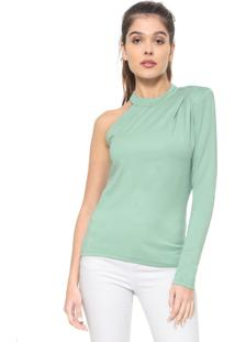 Blusa Colcci Assimétrica Verde