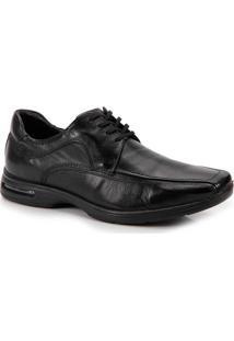 Sapato Conforto Masculino Democrata Air Stretch Spot - Preto
