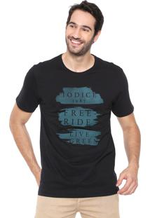 Camiseta Iódice Lettering Preta