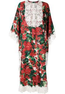 Dolce & Gabbana Vestido Midi Com Estampa Floral - Estampado