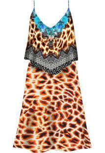 Vestido Com Alças E Babado Girafa - Lez A Lez