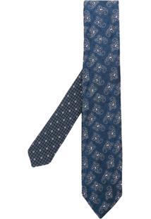 Etro Gravata Paisley - Azul