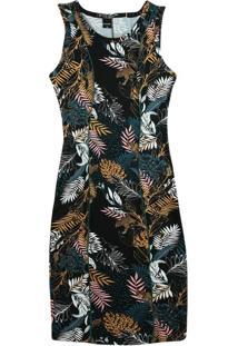 Vestido Preto Curto Tropical