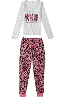 Pijama Oncinha Longo Com Máscara Malwee Liberta