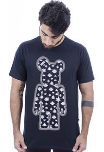 Camiseta Hardivision Indian Toy Art Manga Curta - Masculino-Preto