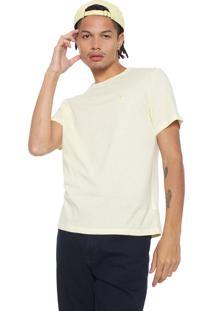 Camiseta Cavalera Bordado Amarela