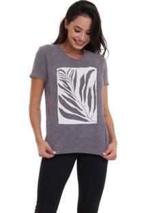 Camiseta Jay Jay Básica Tropical Chumbo
