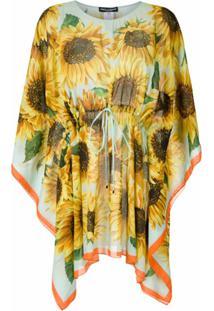 Dolce & Gabbana Caftan Girassol Estampado - Amarelo