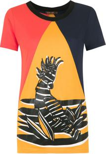 A.Brand Blusa Tricolor 'Calcatua' - Amarelo