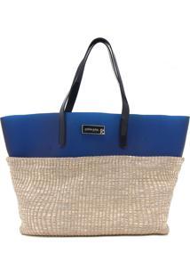Bolsa Petite Jolie Tressê Azul