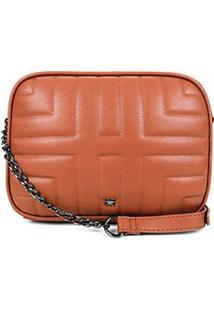 Bolsa Hering Mini Bag Matelassê Alça Corrente Feminina - Feminino-Marrom