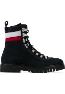 Tommy Jeans Padded Stripe Ankle Boots - Azul