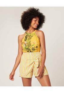 Blusa Tropical Malwee Amarelo - Pp