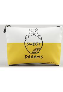 "Nécessaire Feminina Ursinho Pooh ""Sweet Dreams"" Branca - Único"