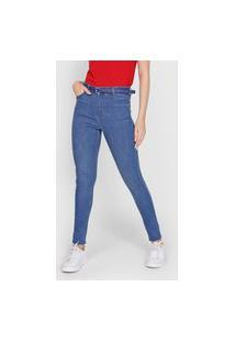 Calça Jeans Hering Skinny Pespontos Azul