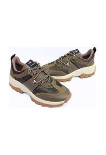 Tenis Via Marte Feminino Sneaker Chunky Slip On Sapatenis 1024 Verde