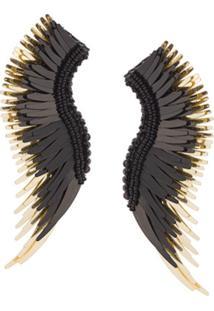 Mignonne Gavigan Par De Brincos 'Long Wings' - Preto