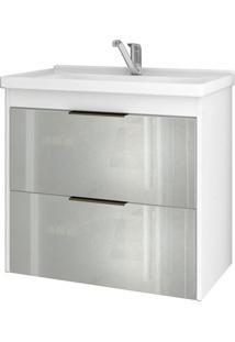 Gabinete De Banheiro Lavanda 1 Pt 1 Gv Branco 59 Cm
