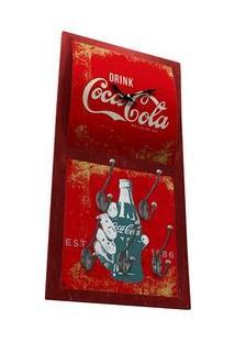 Relógio De Parede Com Cabide Coca Cola Vintage