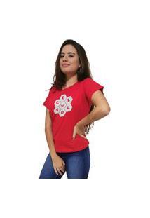 Camiseta Feminina Cellos Honey Premium Vermelho