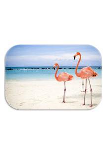 Tapete Decorativo Wevans Flamingos 40Cm X 60Cm Azul