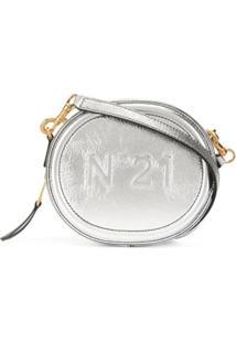 Nº21 Bolsa Transversal Com Logo Gravado - Prateado