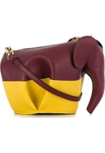 Loewe Bolsa Transversal Em Forma De Elefante - Vermelho