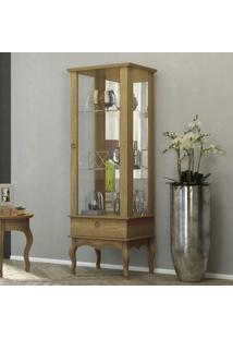 Cristaleira Com Espelho 1 Porta De Vidro 1 Gaveta Condessa Edn Móveis Naturale