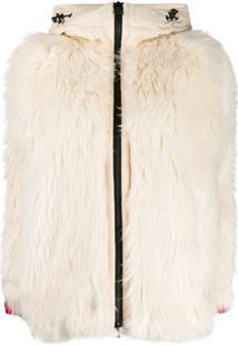 Moncler Grenoble Faux-Fur Zipped Jacket - Branco
