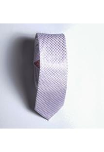 Gravata Slim Quadriculado Lilas - U