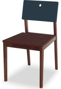 Cadeira Flip Cor Cacau Com Encosto Marinho - 31136 Sun House