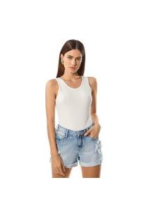 Bermuda Morena Rosa Meia Coxa Com Termocolante Jeans