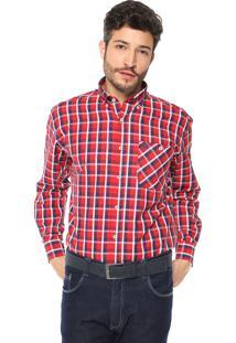 Camisa Wrangler Xadrez Vermelha