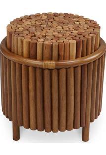 Puff Rottin Junco Envelhecido Estrutura Apuí Eco Friendly Design Scaburi