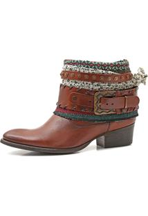 Bota Boho Chic Couro Charlotte Look Sioux Camel