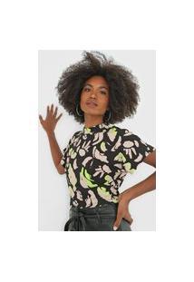 Camiseta Forum Canelada Preta/Bege