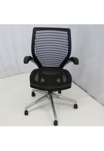 Cadeira Office Outlet Hera Preta Base Em Aluminio - 5 - Sun House
