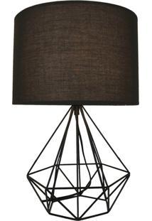 Abajur Lamp Show Údine Preto - Kanui