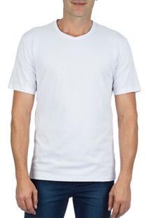 Camiseta Masculina Branca Lisa Upper - P