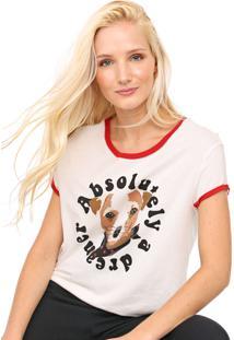 Camiseta Dzarm Estampada Off-White