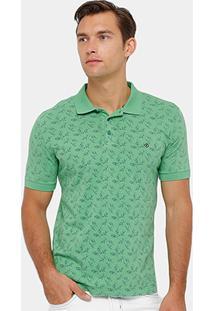 Camisa Polo Forum Mini Folhas Masculina - Masculino
