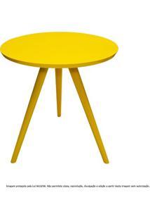 Mesa Lateral De Canto Tripé Pequena Laqueada Amarela