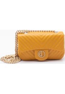 Bolsa Shoulder Bag Couro Amarelo Sol - P