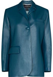 Anouki Blazer Com Abotoamento Simples - Azul