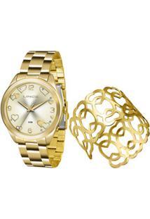 Kit Relógio Feminino Lince Lrg4392L K195C2Kx