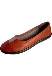 Sapatilha Scarpe Bico Redondo Laranja